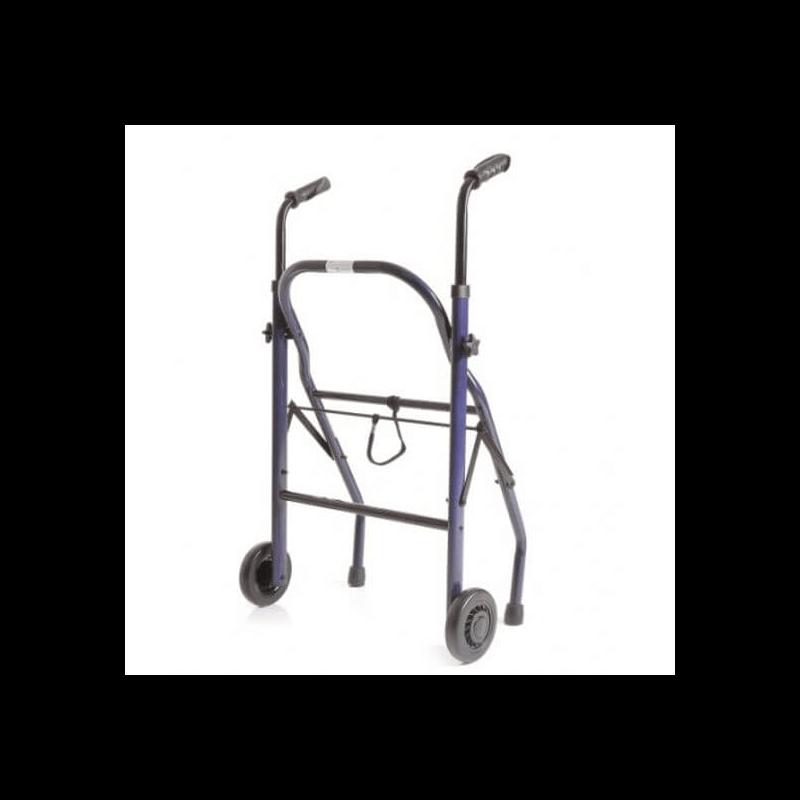 Andador de acero pintado plegable