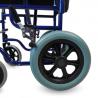 Silla de ruedas plegable pequeña de acero