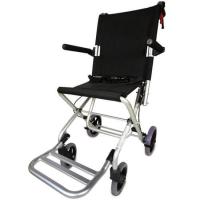 Silla de ruedas pequeña de aluminio plegable