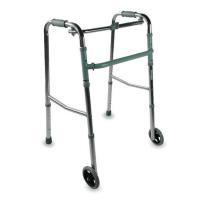 Andador de dos ruedas de aluminio