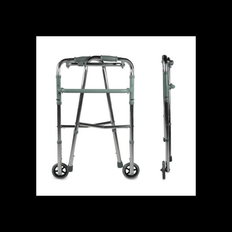 Andador de 2 ruedas de aluminio