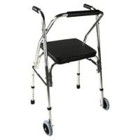 Andador de aluminio con asiento y respaldo