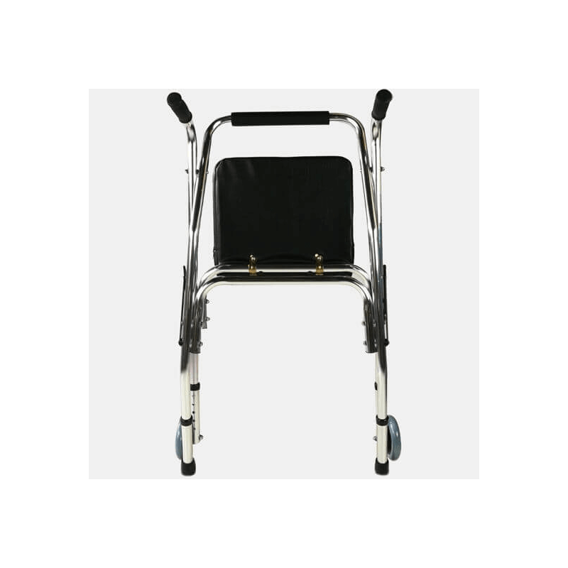 Andador de aluminio de dos ruedas