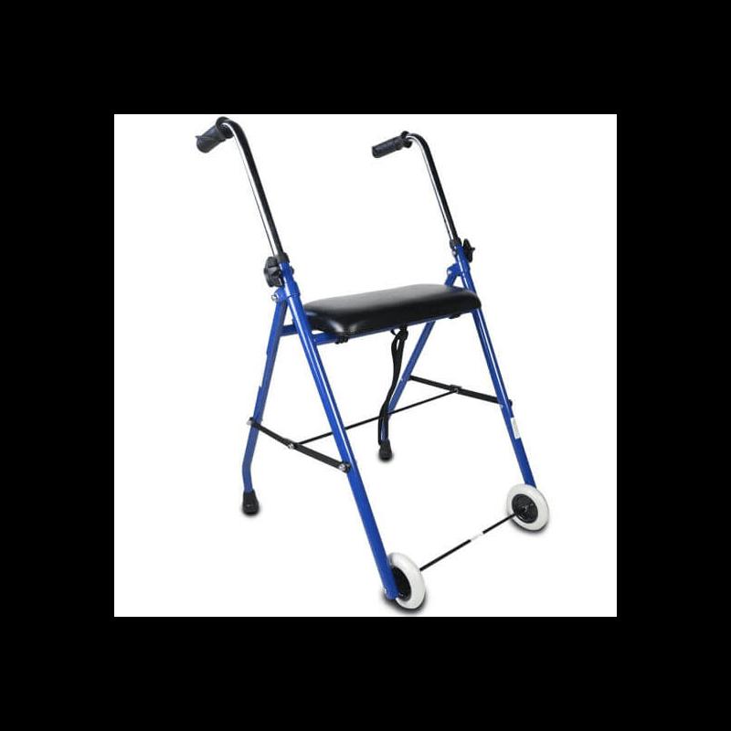 Andador de dos ruedas con asiento