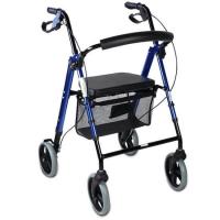Andador 4 en 1 de aluminio azul