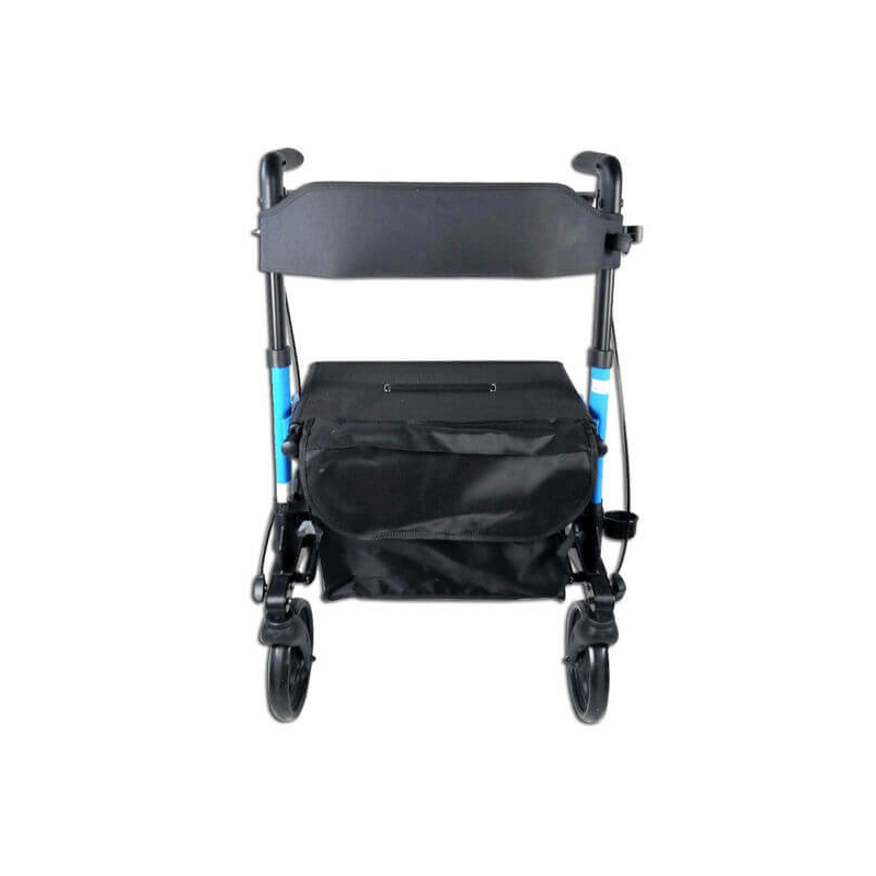 Andador para ancianos con cesta de tela