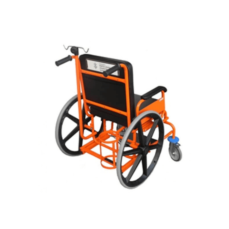 Silla de ruedas fija de traslado para hospitales