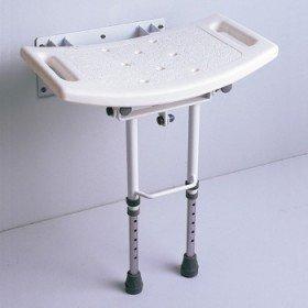 Asiento de ducha abatible con patas - Ayudas dinámicas