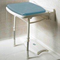 Asiento abatible de ducha compacto y acolchado