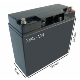 Baterías Scooter Eléctrico VENUS 4 SPORT de 22h - 12V - Ortoespaña