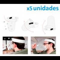 Pack 5 Viseras de protección facial abatible