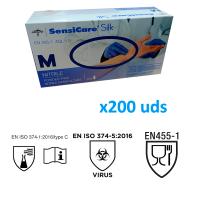Guantes de nitrilo MEDLINE sin polvo 200uds