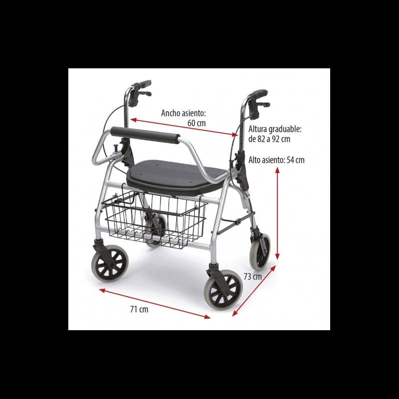 Andador Maxi Rolator 'L' 200 kg