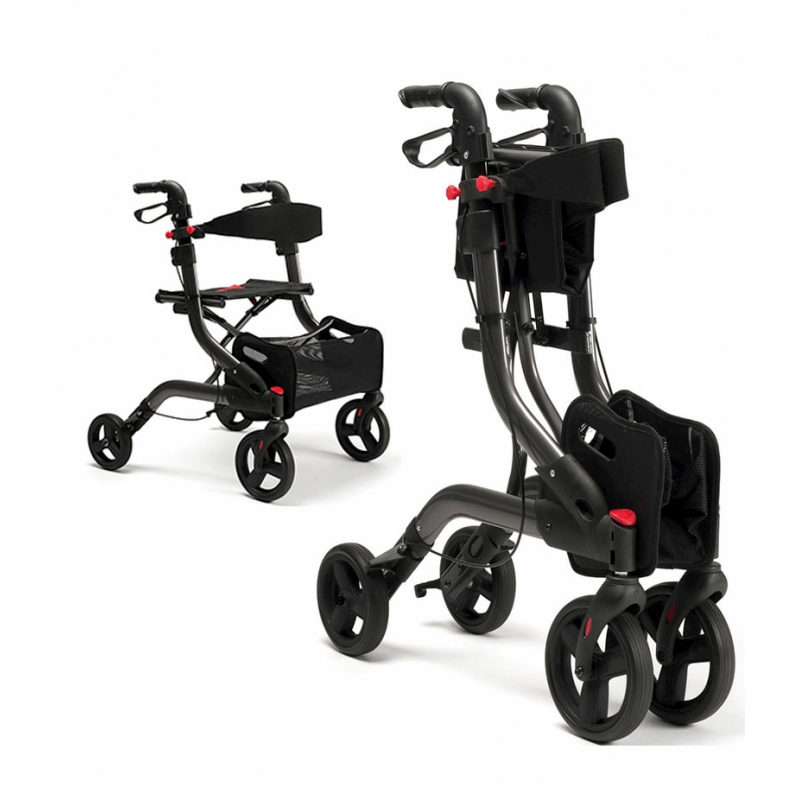 Andador de 4 ruedas con frenos en las manetas 'Four - Light'