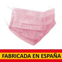 Mascarilla quirúrgica Tipo IIR rosa