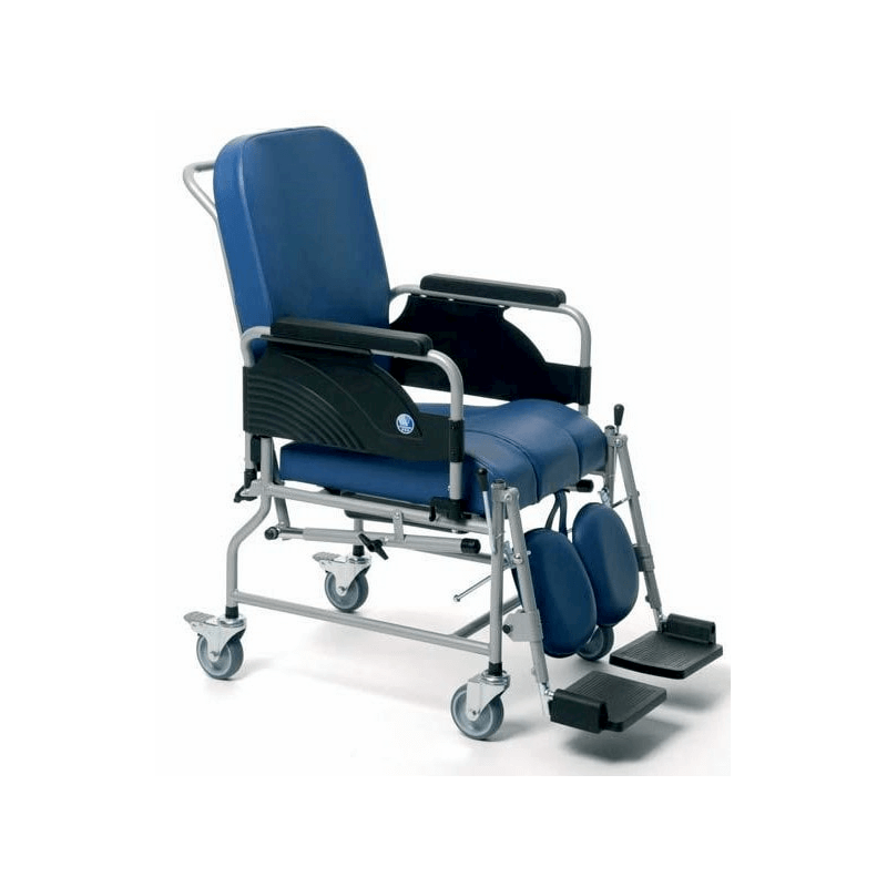 Silla inodoro con respaldo reclinable