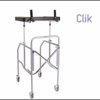 Andador plegable con soporte de antebrazos