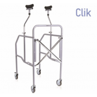Andador plegable con soporte axilar