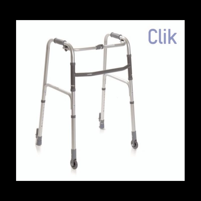 Andador plegable de 2 ruedas fijas