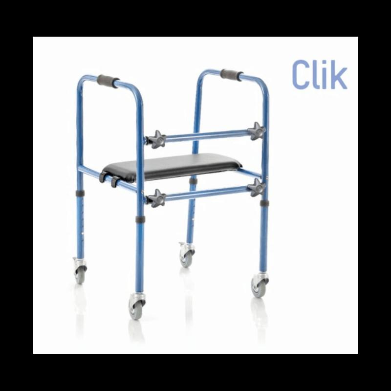Andador de aluminio con asiento desmontable