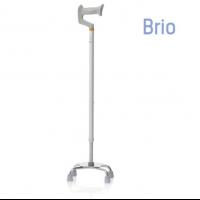 Bastón de 4 patas de aluminio