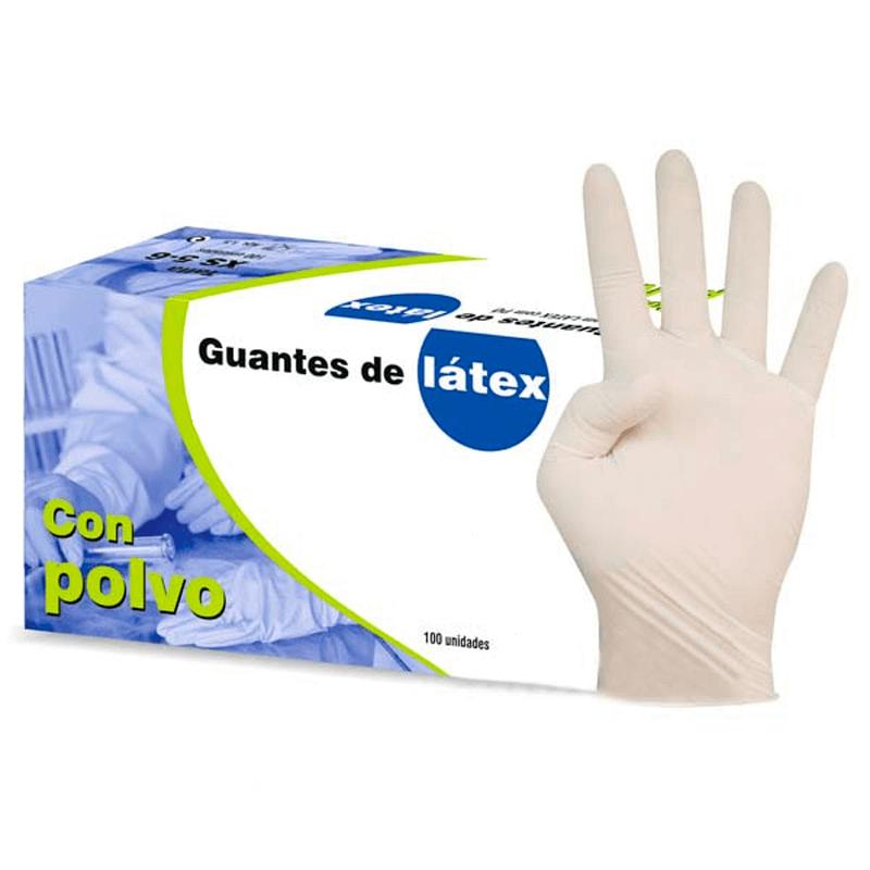 Guantes de látex con polvo
