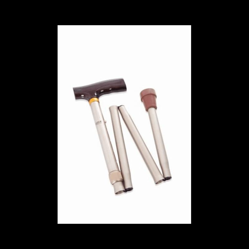 Bastón de aluminio plegable BRONCE