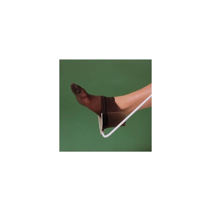 Pone medias y calcetines de compresión con calzador largo 'Brevetti'