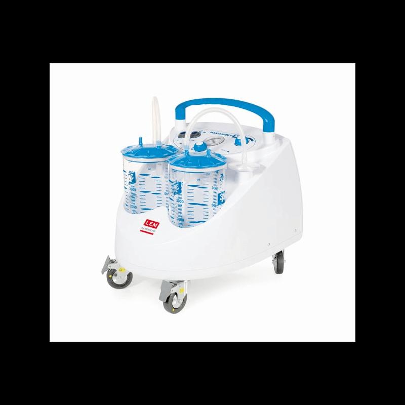 Aspirador quirúrgico doble con ruedas 'ASPIMED 4.1'