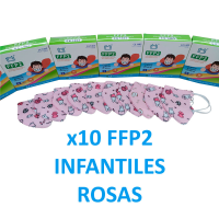Mascarillas infantiles FFP2 rosas