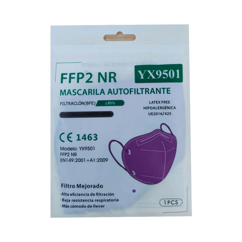 Mascarilla FFP2 color morado