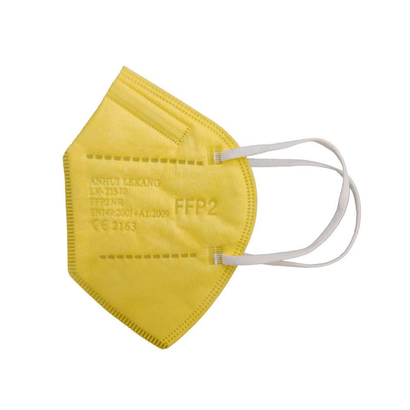 Mascarilla FFP2 color amarillo