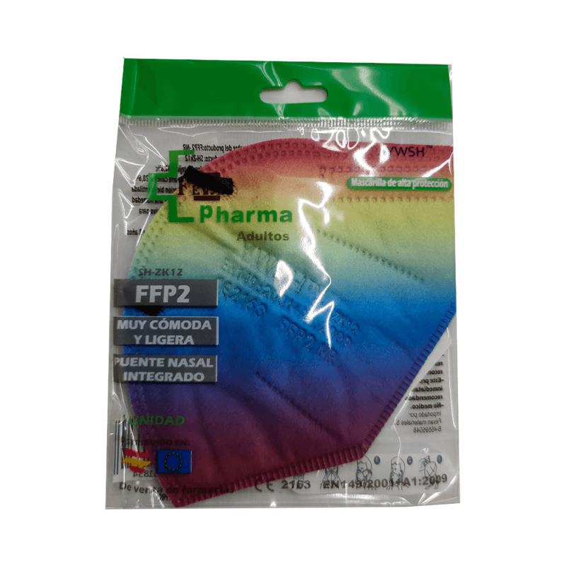 Mascarillas FFP2 arcoiris
