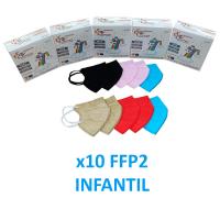 Mascarillas infantiles FFP2 de colores