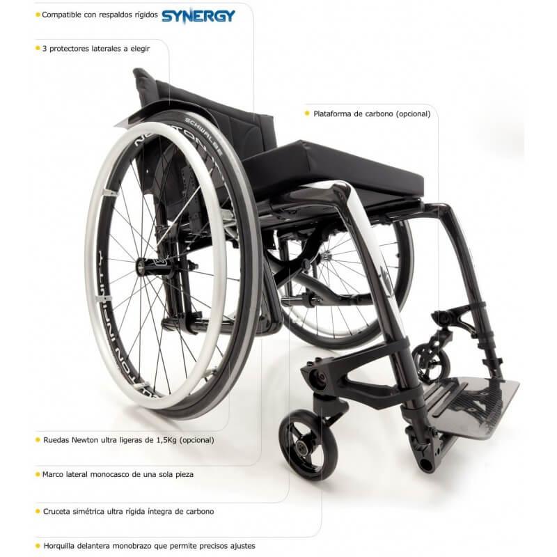 Silla de ruedas Activa plegable de Carbono 'VELOCE'