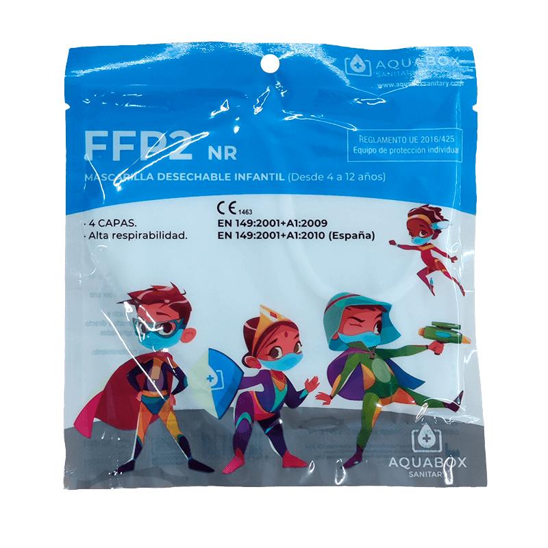 Pack 10 Mascarillas FFP2 infantil
