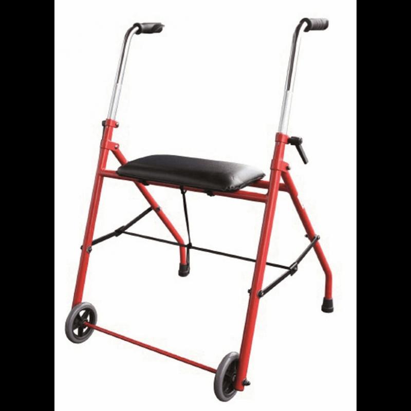 Andador plegable de 2 ruedas bariátrico