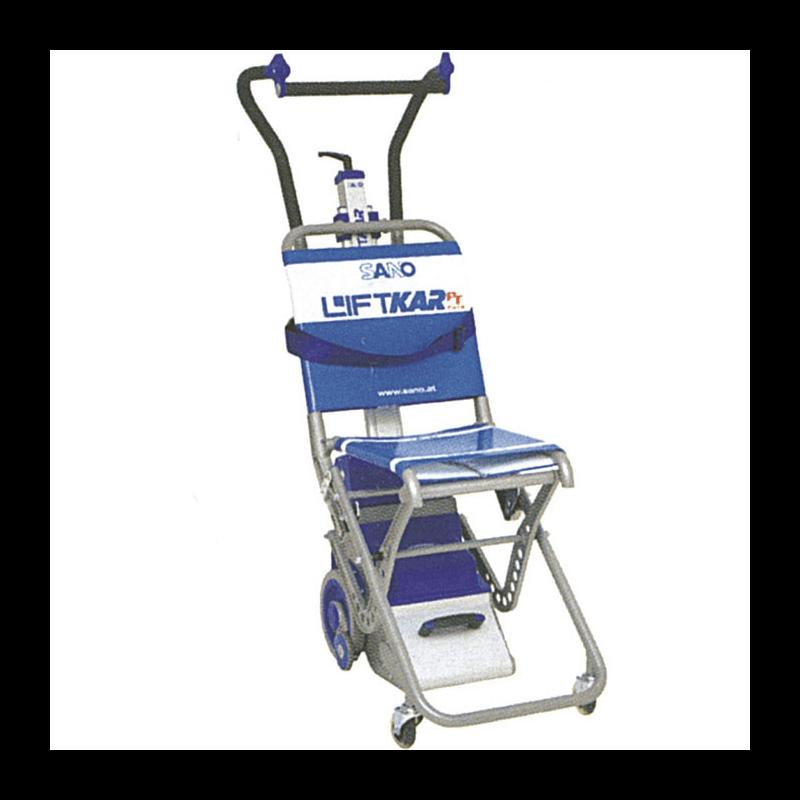 Sube-escaleras profesional con silla plegable