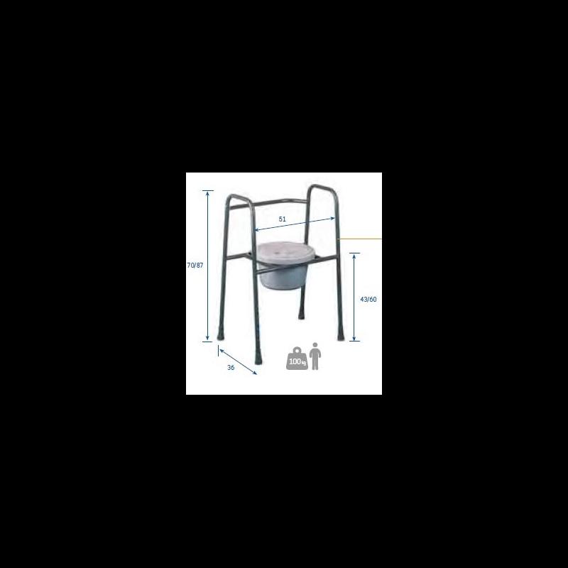 Soporte de asiento con inodoro S2
