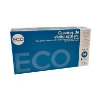 Guantes de vinilo azul ECO...
