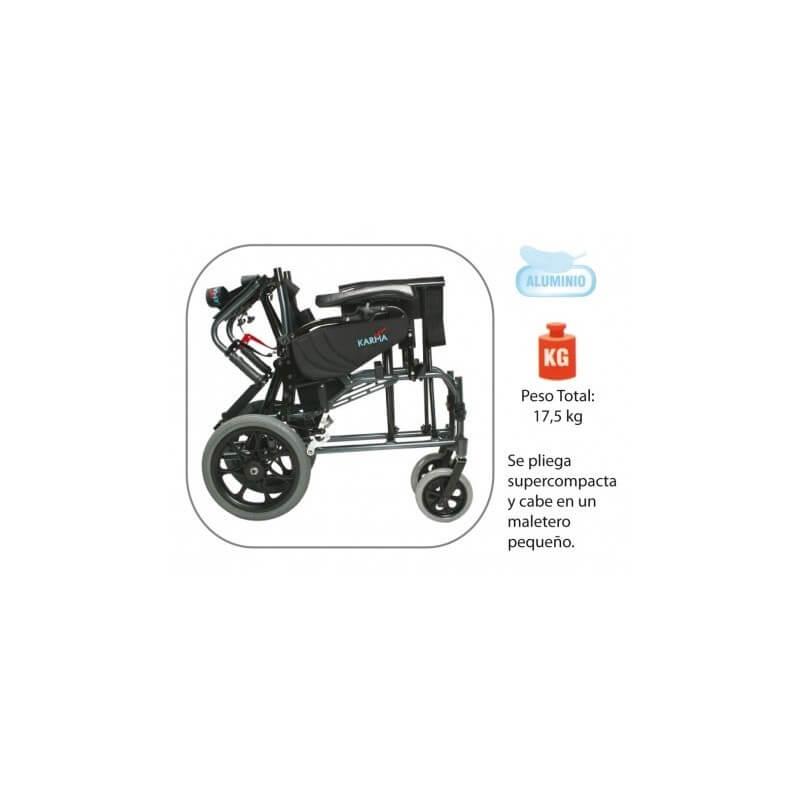 Silla de ruedas basculante de aluminio plegable 'Vip'