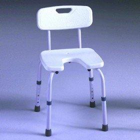 Silla de ducha 'Samba' asiento en U - Ayudas dinámicas