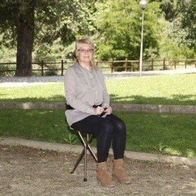 Bastón con asiento 3 patas - Ayudas dinámicas