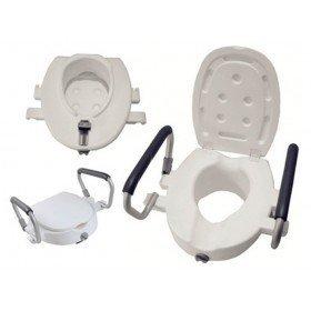 Elevador WC con tapa y brazos abatibles - Ortoespaña