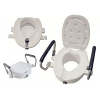 Elevador WC con tapa y brazos abatibles