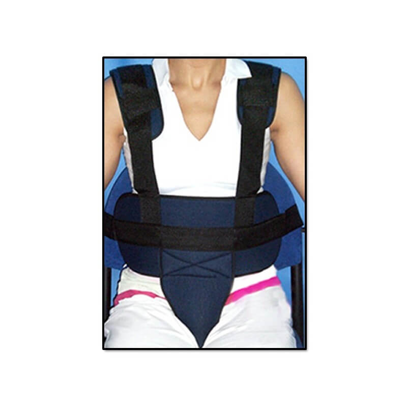 Cinturón pélvico con tirantes para silla de ruedas