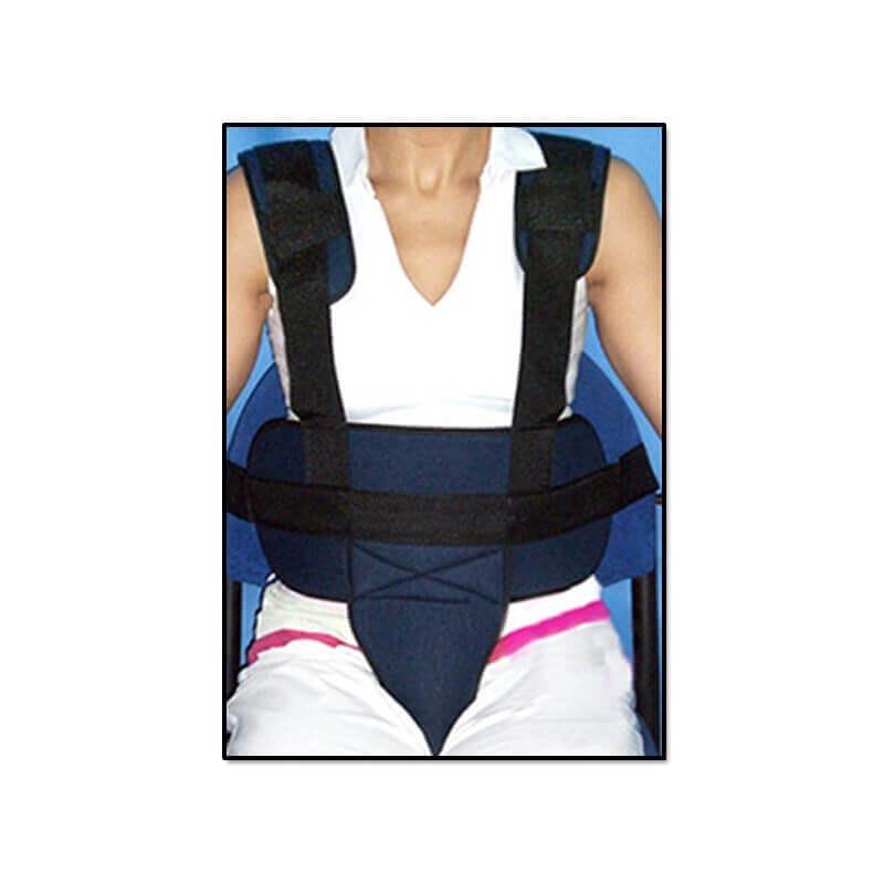 Cinturón pélvico con tirantes para silla de ruedas - Ortoespaña