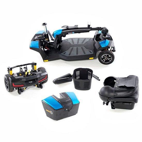 Scooter desmontable con suspensión Jazzy Zero Turn