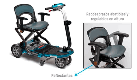 Reposabrazos scooter apex brio