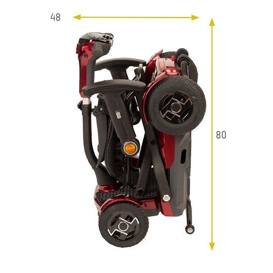 Medidas scooter i-laser plegada